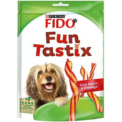 Purina Fido - batonnets torsades Fun Tastix - gout bacon / fromage - 150 g - Lot de 6