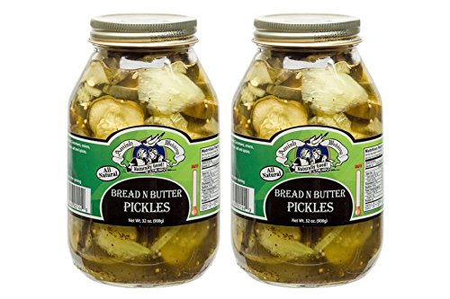 Amish Wedding Foods All Natural Bread N Butter Pickles 32 Ounces (Pack of 2)