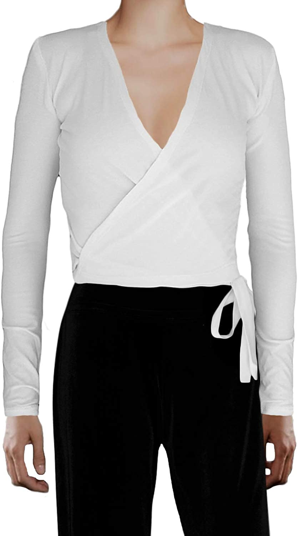 Ooh La La Women's Dance Inspired Long Sleeve Wrap Tie Fitted Shrug Sweater
