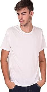 Forever Angel Men's 100% Silk Crew Neck Short Sleeve T Shirts