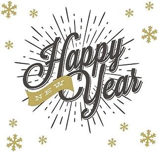20 servetten stralend nieuwjaar | oudejaarsavond | winter | Kerstmis | tafeldecoratie 33 x 33 cm