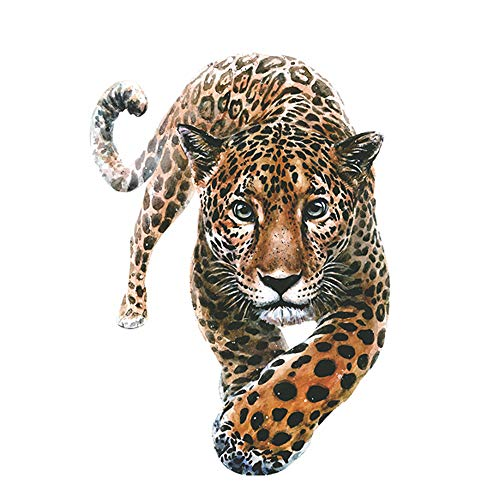 Tiger Head Heat Transfer Iron on Patch Sticker for Coat Jacket Sweater Jeans Backpack Clothing DIY Decoration A-Level Washable Decals Leopard Print Tiger Environmental Protection Decoration Applique