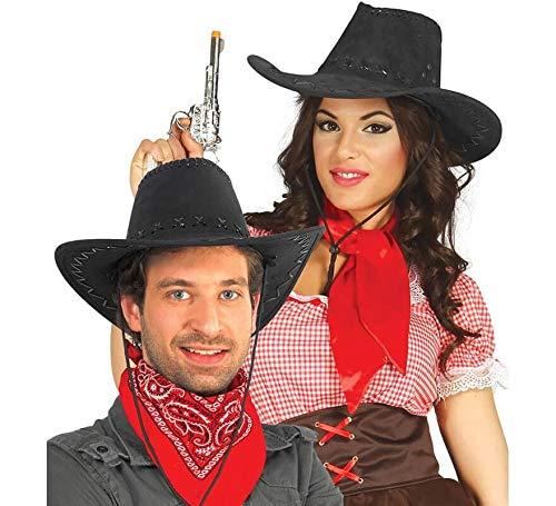 Chapeau de cow-boy noir simili cuir
