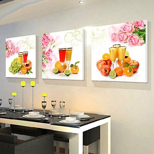 Zita and Zetan Modern Restaurant Pittura Decorativa Pittura Senza Telaio Semplice del Salone della Pittura di Parete della Cucina Murales (Dimensioni : 50 * 50 * 2.5cm)