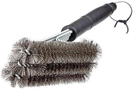 Aussie Blokes 18-Inch Stainless Steel BBQ Grill Brush, Matte Black