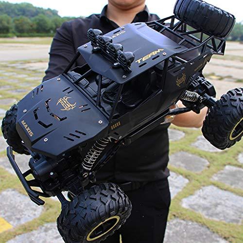 2.4G RC Auto, 40 KM / H Jeep Fahrzeug Allradantrieb Ferngesteuertes Elektro High Speed Wüstenbuggy Racing, Off-Road Monstertruck Buggy, Spielzeug Geschenk für Kinder und Erwachsene (01-Schwarz)