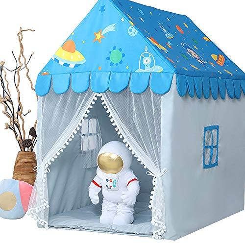 ZRZJBX Tenda da Gioco, Tenda del Castello per Bambini Tenda Casetta Tenda Portatile per Bambini Casetta dei Giochi per Interni Ed Esterni Regalo per Bambini,Blue