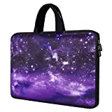 13.3-14 Inch Chromebook Case Laptop Carrying Bag Neoprene Sleeve Compatible with 14' Acer Chromebook 514 314 /Lenovo IdeaPad 3 14'/Evoo Elite 14'/ZenBook UX430UA 14'(Purple Sky)