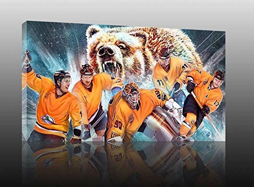 Wolfsburg Eishockey, Fan Artikel Leinwandbild, Größe: 100x70cm, Auf Holzrahmen gespannt, Kein Poster oder billig Plakat, Must Have für echte Fans