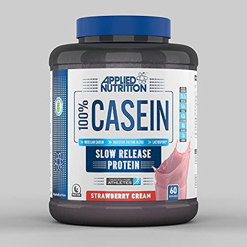 Applied Nutrition 100% Casein Proteïne-eiwit regeneratie Fitness Dieet 1800 g (Strawberry - aardbei)