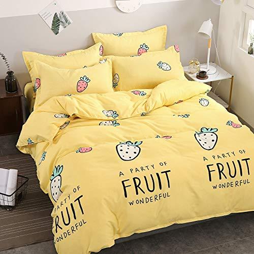CYGJ CYGJThree-piece bedding set with stylish zipStrawberry1.5m three-piece set