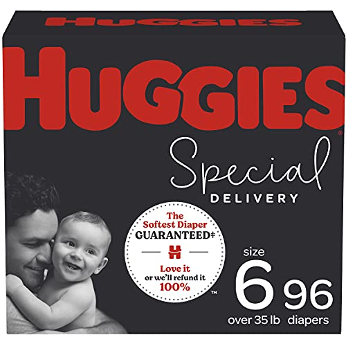 Diapers Size 6 - Huggies Special Delivery Hypoallergenic Disposable Baby Diapers, 96ct,...