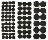 com-four® 80x Deslizadores de Muebles autoadhesivos - Deslizadores de Fieltro para Silla y Mesa - Deslizadores de Silla en 3 tamaños