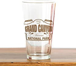 Grand Canyon National Park Pint Glass,16 oz.Drinking Glass- Fun cool unique printing | suitable for bars,parties,barbecues