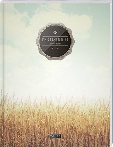 """TULPE Punktraster Notizbuch A4 """"C146 Freiheit"""" (140+ Seiten, Vintage Softcover, Punktkariertes Papier - Bullet Journal, Dickes Notizheft, Skizzenbuch, Tagebuch, Gepunktete Seiten, Dot Grid Notebook)"""