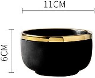 Pink Black Gold Stroke Ceramic dinner Plate Tableware Porcelain bulk Serving Dishes Plate Home Wedding Decorative Dinnerware,Black Small Bowl