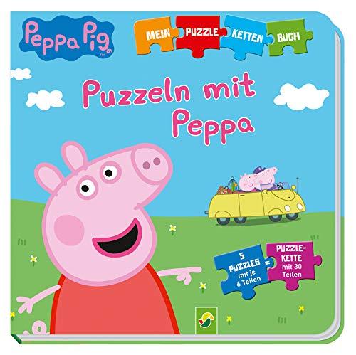 Peppa Pig - Puzzeln mit Peppa: Puzzle-Ketten-Buch mit 5 Puzzles mit je 6 Teilen