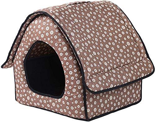 ZLYY Caseta para gatos para exteriores, resistente al invierno, para exteriores, para gatos, impermeable, con asa, plegable, cálida y cálida, para mascotas A