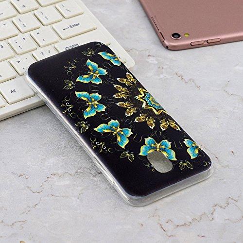 Robinsoni Funda Compatible con Samsung Galaxy J530 Brillo Suave Silicona TPU Gel Goma Funda con Flexible Ultra Suave Transparente Caja Ultra Delgada Carcasa Bumper Protective Shell, Mariposas
