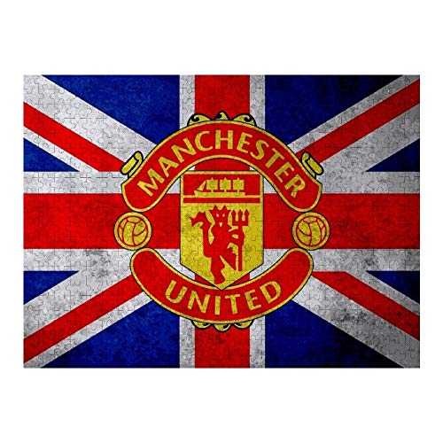 DSFAA Manchester United Flag Wall Art Paintings Wooden Jigsaw Puzzle 1000PCS for Living Room Gifts for Children