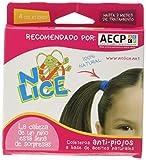 No-Lice 177879 - Elastici anti-pidocchi per capelli, 120 g, colore: marrone e nero