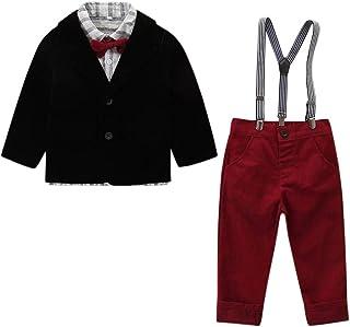 Conjunto de trajes para niños de 0 a 8 años, ropa de bebé y niños, corbata de corbata, abrigo+pantalones, bonito regalo de...