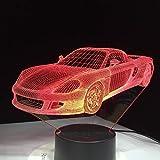 Cool Car Luminaria Toy Friend Night Light 3D LED Lámpara de mesa niños regalo de cumpleaños decoración de la habitación junto a la cama