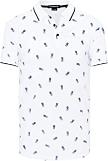 Connor Men's Pineapple Polo Cotton Polyester Blend Regular Collared Casual Tops Sizes XS-3XL Affordable Quality with Great Value