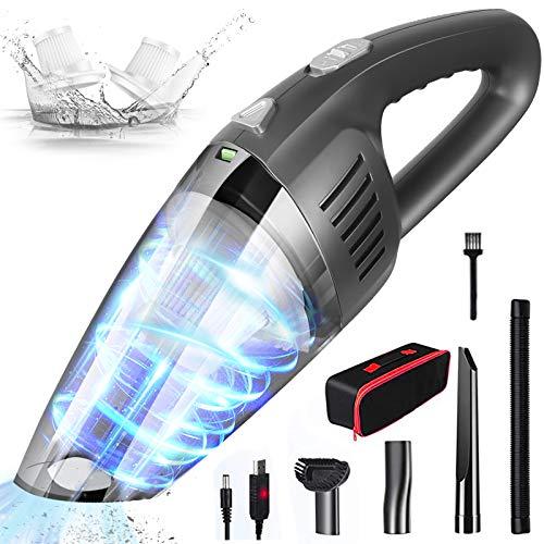 Aspirabriciole Senza Fili Portatile potente 120W/8000PA Filtro umido e secco 30 minuti con Batteria Ricaricabile da 3000 mAh per Casa/Auto/Ufficio