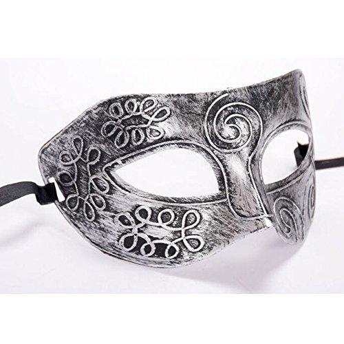Sulifor Halloween Gladiator Maske Retro Roman Gladiator Halloween Party Gesichtsmaske Maske - Silber