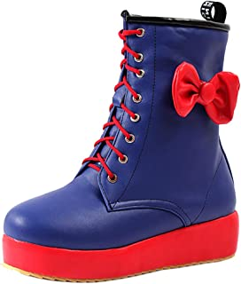 Zanpa Women Sweet Boots with Bow Martin Boots