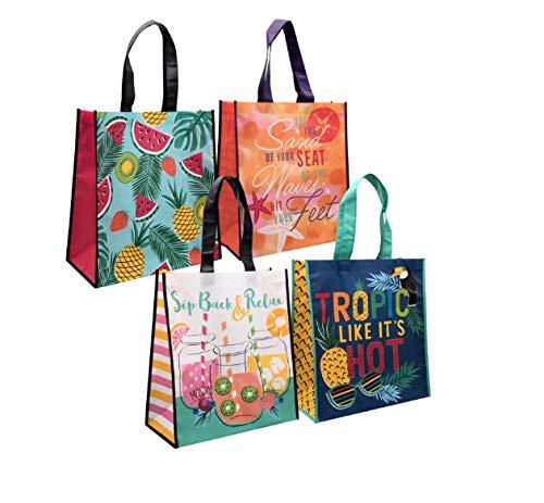 Greenbrier Borsa da spiaggia tropicale, stampa laminata, 3 sacchetti, design variabile