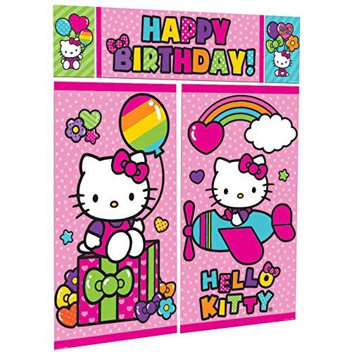 Hello Kitty Happy Birthday Backdrop