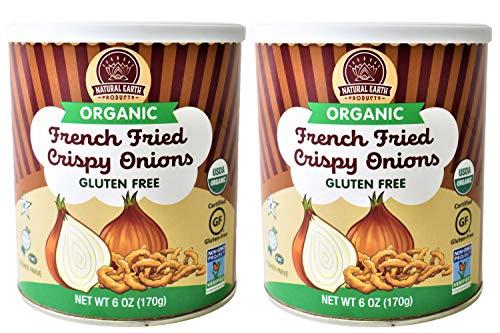 Organic French Fried Crispy Onions - Kosher, Vegan, Gluten-Free, NON-GMO, USDA Organic - 6 Oz (2 Pack Total of 12 Oz)