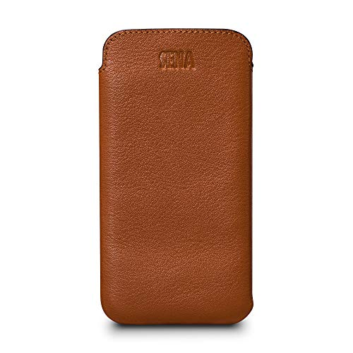 Sena Bence - Funda de Piel Ultrafina para iPhone 6, 7, 8, Compatible con Carga inalámbrica, Color marrón