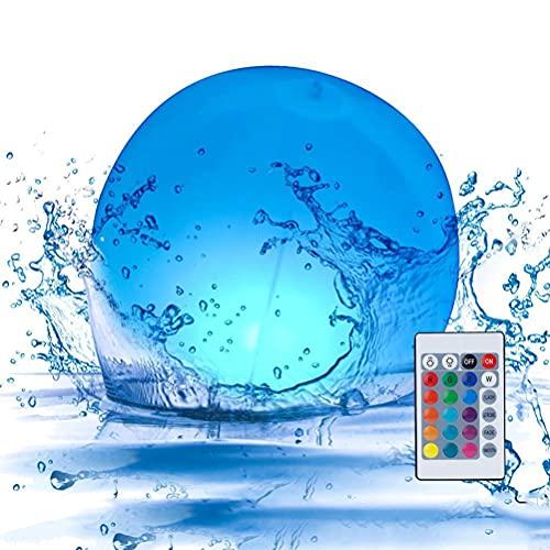 Juguetes de piscina Led bola de playa con control remoto 16 colores cambiantes al aire libre piscina playa fiesta juegos para piscina patio jardín decoraciones