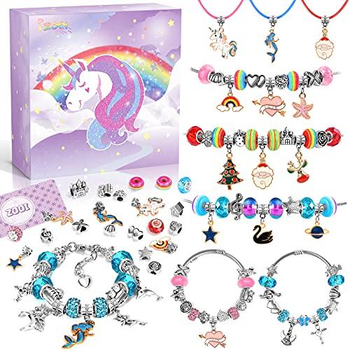 ZOOI Mädchen Geschenke 6-12 Jahre, Schmuck Basteln Mädchen, Geschenke für Mädchen, Adventskalender Mädchen Kinder Füllung 2021, Kinder Spielzeug Mädchen, Geschenke Weihnachten Geschenke Mädchen