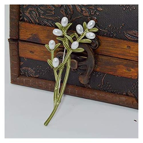 Brosche Vintage Grün Farbe Pflanze...