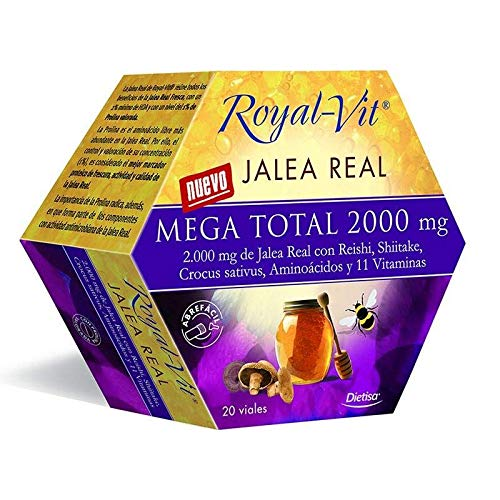 Royal Vit Mega Total Jalea Real 20 ampollas de 2000 mg