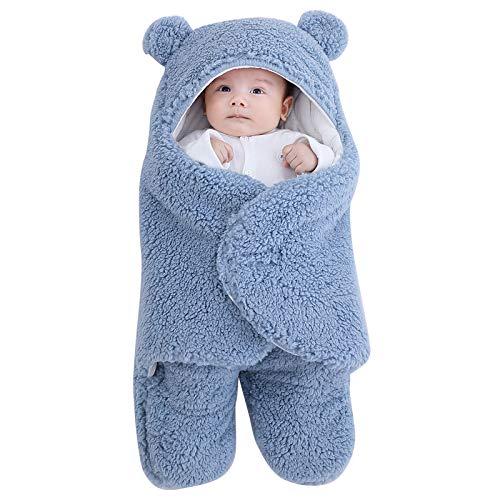 Haokaini Manta para Bebé Recién Nacido Manta de Invierno para Bebés Suave Y Cálida con Capucha Saco de Dormir para Bebés Recién Nacidos Gils