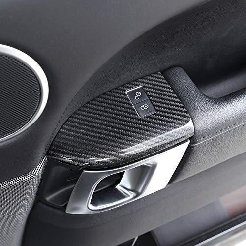 Carbon-Faser-Auto-Kindersicherung Tastenabdeckung Tim for Range Sport 2014-2019 Hohe Qualität der Carbon-Faser