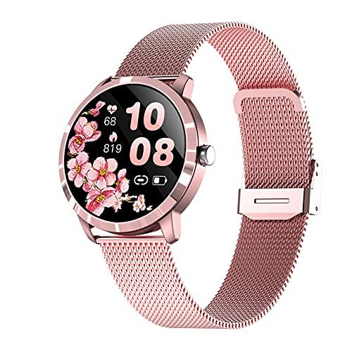 Reloj inteligente Q8L, rastreador de ejercicios, contador de calorías con podómetro con monitor de frecuencia cardíaca, reloj deportivo resistente al agua IP67 con pantalla de 1,09 pulgadas, regalo cá
