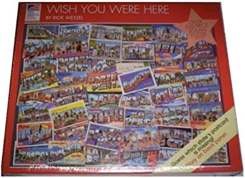 Precio al por mayor y calidad confiable. Wish You Were Here Here Here 550 Piece Jigsaw Puzzle by Great American Puzzle Factory  increíbles descuentos