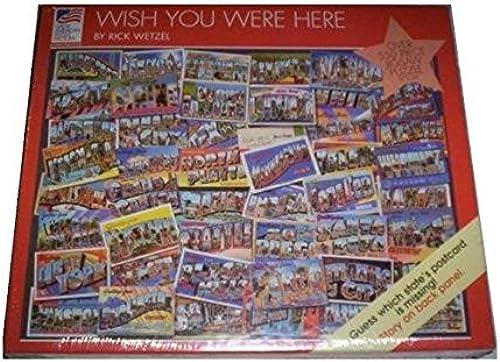 tienda de venta Wish You Were Here 550 Piece Jigsaw Jigsaw Jigsaw Puzzle by Great American Puzzle Factory  Garantía 100% de ajuste
