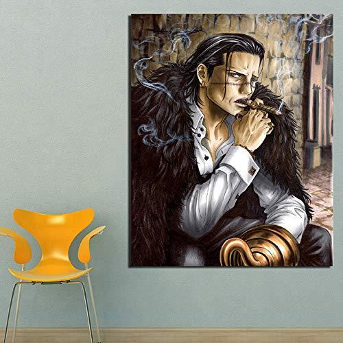 KWzEQ Bewegende Manga Leinwand Malerei drucken Wohnzimmer Hauptdekoration Moderne Wandkunst Ölgemälde Poster Bild,Rahmenlose Malerei,70x90cm
