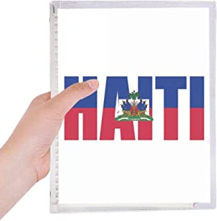 Haiti Country Flag Name Notebook Loose Leaf Diary Refillable Journal Stationery