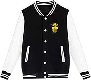 WFIRE Baseball Jacket Alhola Bride Pineapple Custom Fleece Varsity Uniform Jackets Coats for Youth