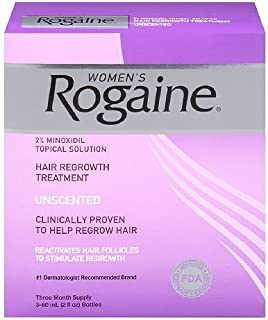 Women's Rogaine Hair Regrowth Treatment, 3 Month Supply 1 Ea