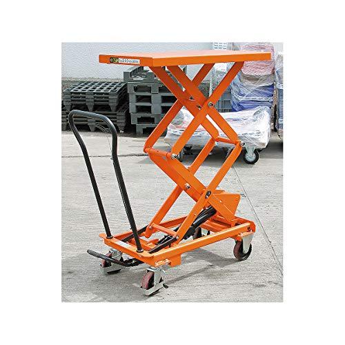 Certeo Hebebühne | Tragfähigkeit 350 kg | Hubtisch Hubwagen Hubplattformwagen Hubtischwagen Plattformwagen