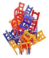 LCLOVER バランスゲーム おもちゃ 椅子 積み木 子供 知育 24ピース スタッキングゲーム ひとり遊び プレゼント